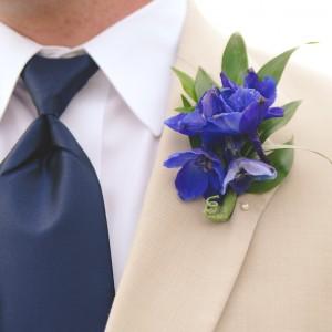 Blue Dephinium Boutonniere