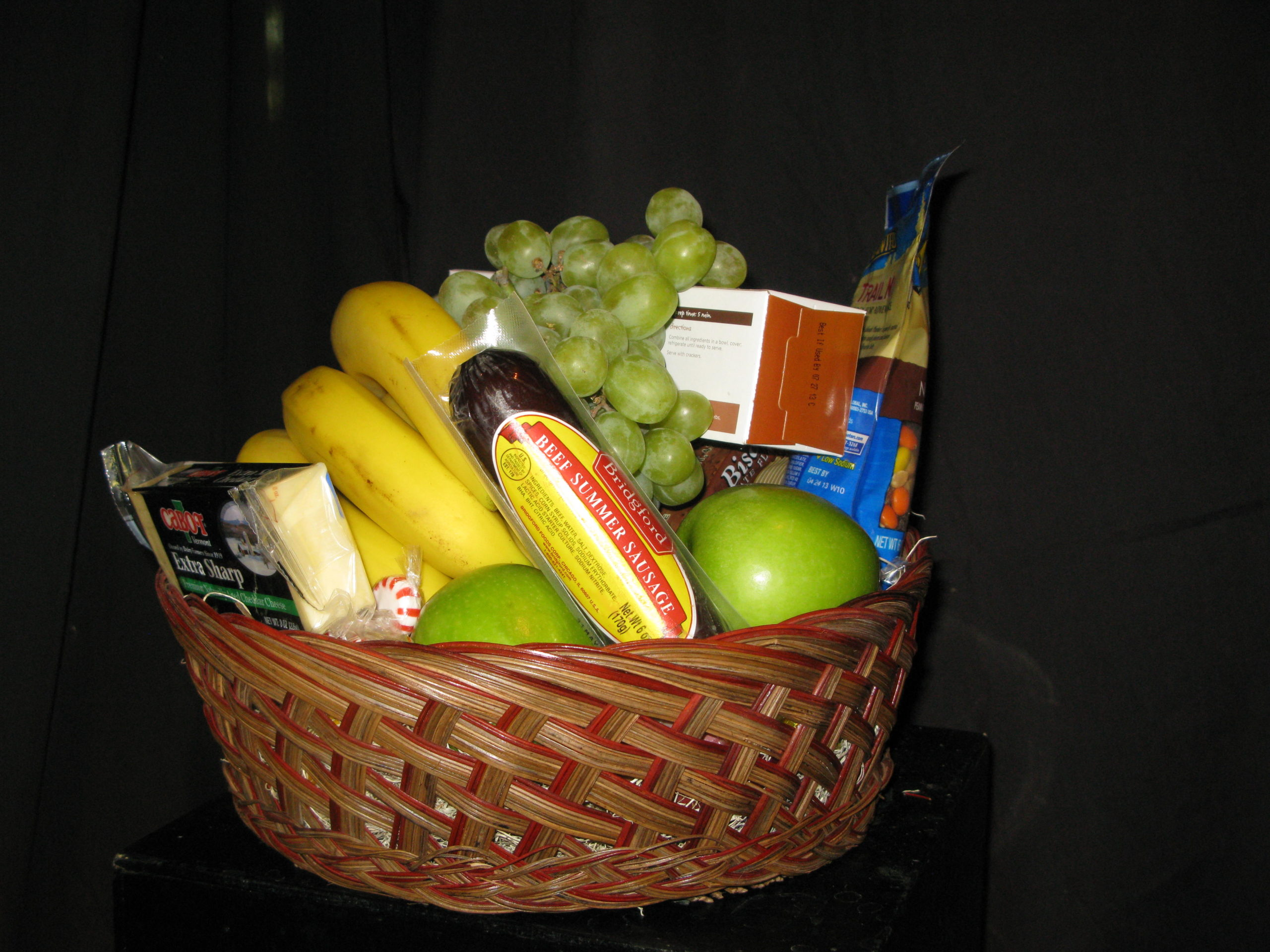 Williamsburg Floral has a variety of gourmet gift basket options available to florist customers at all & Small gourmet gift basket fruit cheese crackers nuts candy ...